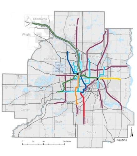 Image of future transit map