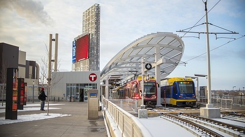 The new Green Line platform at Target Field Station