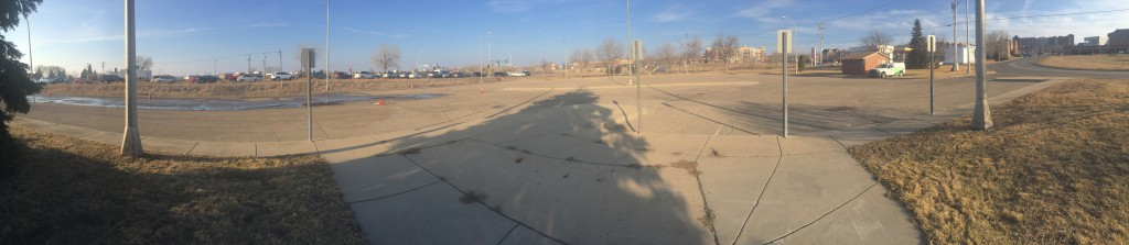 A panorama of the Travelers Trail site.