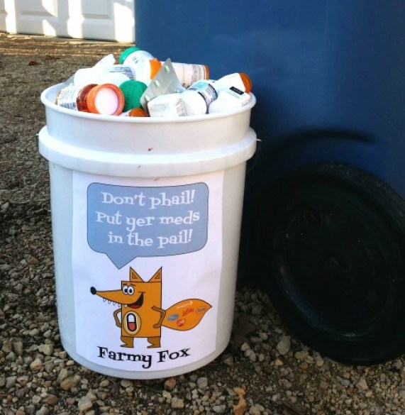 med-recycling-pails-Farmy-Fox-Hennepin-County-Med-recycling-program