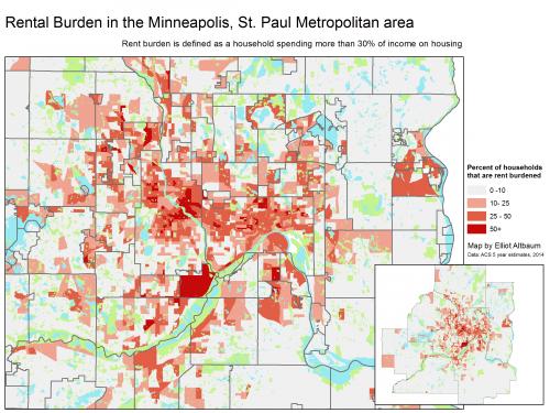 map of rent burden