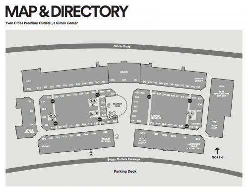 Twin Cities Premium Outlets:  Source: http://www.premiumoutlets.com/pdfs/twincities.pdf