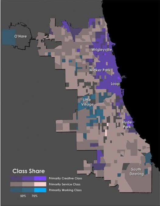 chicago working class map