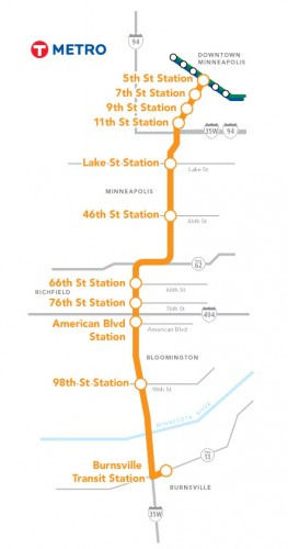 METRO Orange Line Route Map
