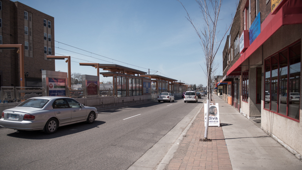 photo of Green Line Station and streetscape