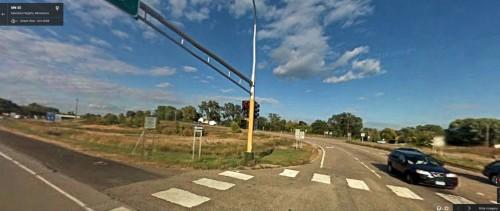 photo of highway 13 & 55 intersection in Eagan showing crosswalks