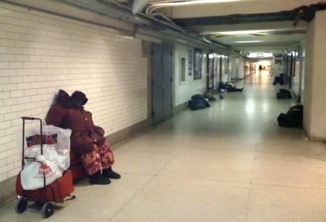 nyc penn station homeless