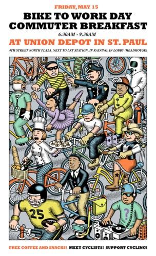 Saint Paul Bike to Work Week poster