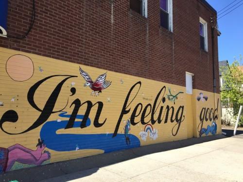 I'm Feeling Good mural