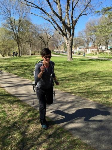 Janelle on trail