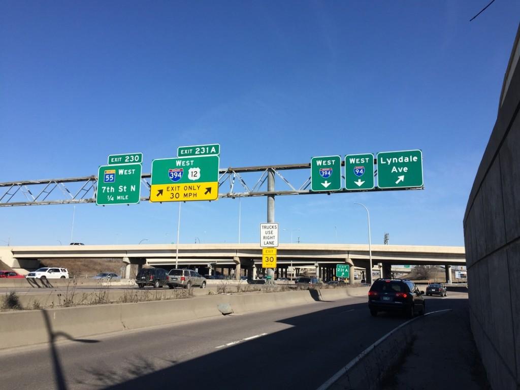 Interstate signs