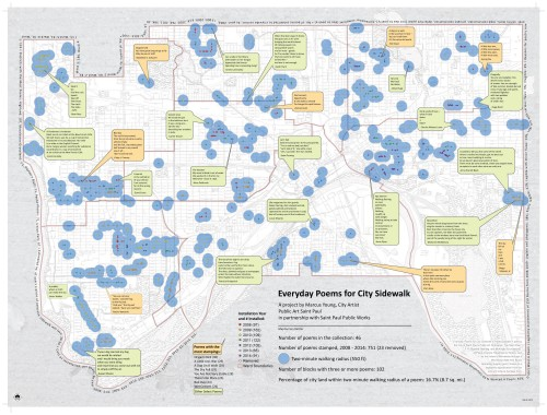 Sidewalk Poetry map