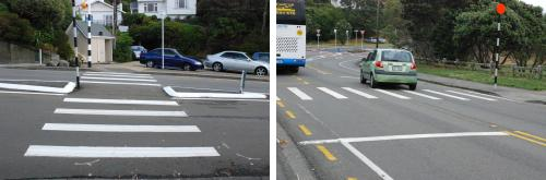 Well-marked pedestrian crossings in Wellington