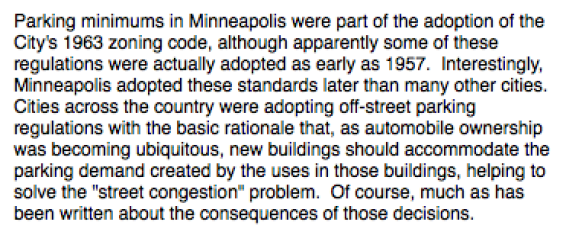 History of parking minimums in Minneapolis