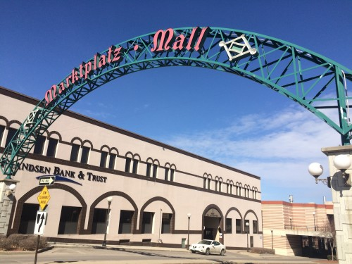 Marktplatz Mall gateway, the mall is now out of receivership.