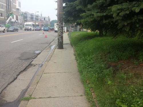Where do the wheelchairs go on Franklin Avenue?