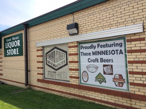 Grand Marais Liquor Store, Proudly featuring local craft beers