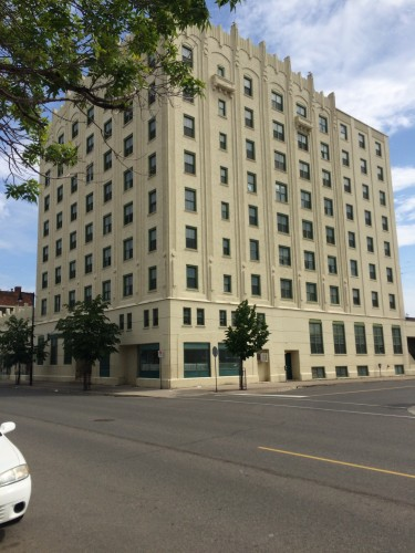 Building, Thunder Bay with Art Deco elements