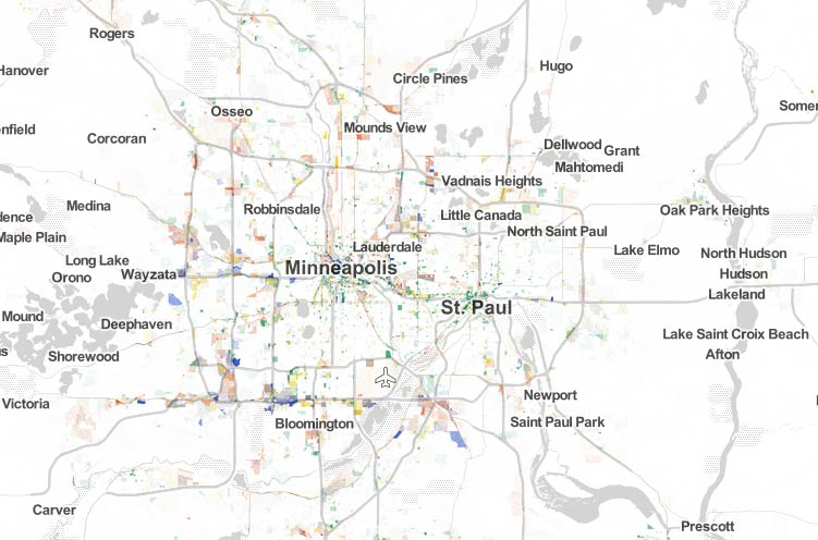 Hugo Minnesota Map.Map Monday All Minnesota Jobs 2010 Streets Mn