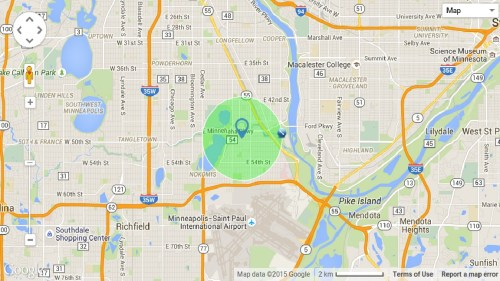 A not as random Minneapolis radius