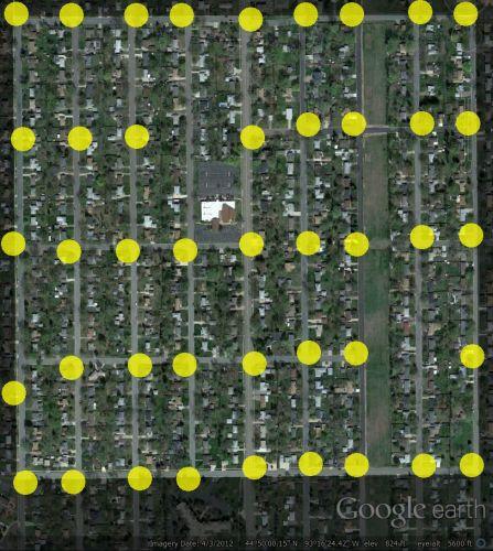 Bloomington Street Light Map