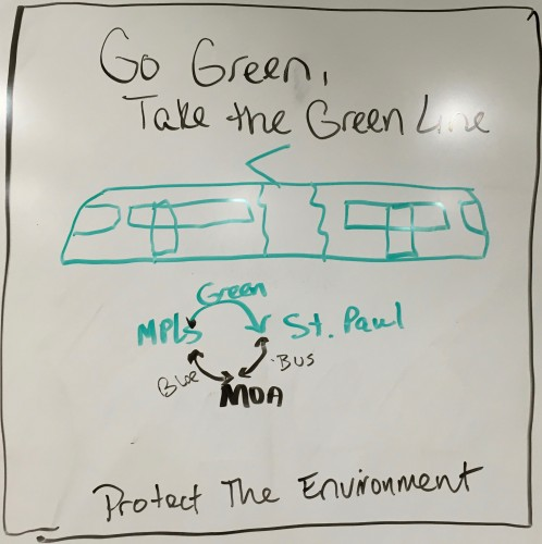 Go Green, Take the Green Line. Protect the Environment