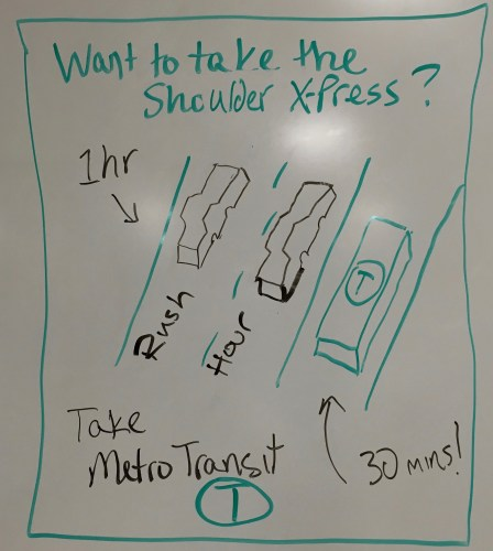 Want to take the Shoulder X-Press: Take Metro Transit