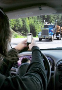 Texting and driving -- illegal, but many people do it