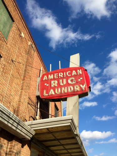 American Rug Laundry sign