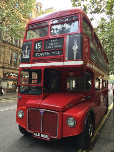 Photograph of vintage Routemaster doubledecker bus
