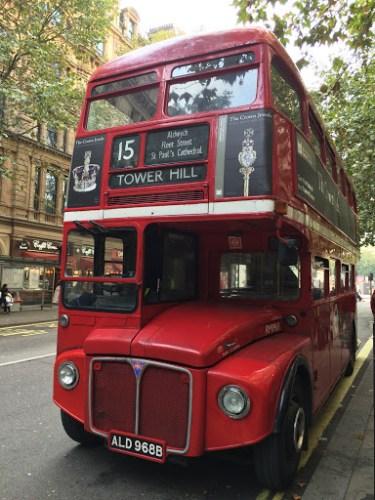 Photograph of vintage Routemaster doubledecker bus