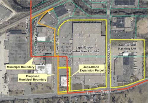 Hopkins - Saint Louis Park boundary realignment