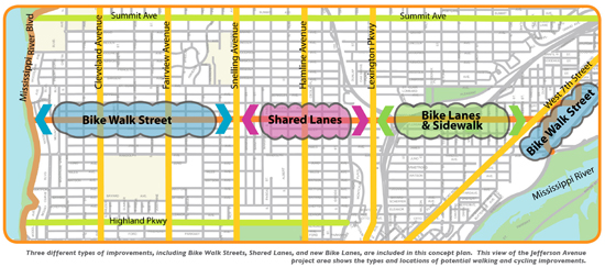 jefferson avenue bike map