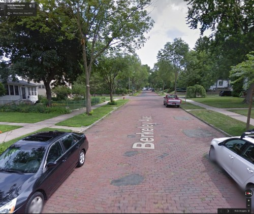 Berkeley Avenue, St. Paul (via Google Earth)