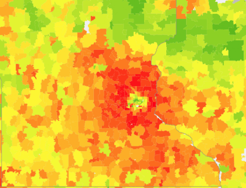 Source: UC Berkeley CoolClimate Network, Average Annual Household Carbon Footprint (2013).
