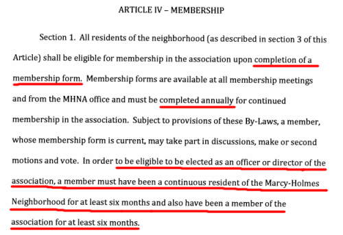 membership requirements of the marcy holmes neighborhood association