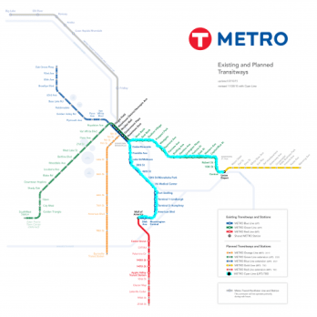 Metro Transit Diagram with Cyan Line added