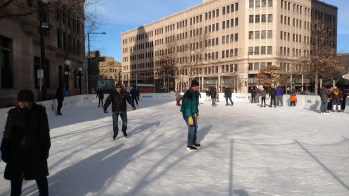 The rink outside the Landmark Center in Saint Paul.