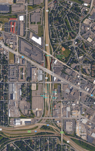 Minnesota State Highway 280 Reconfiguration Proposal sketch.