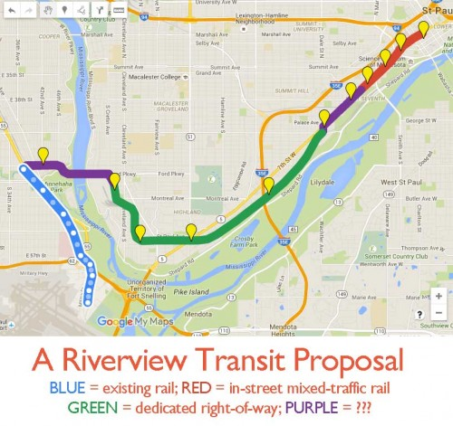 Riverview Corridor proposal
