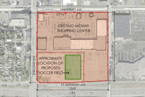 soccer stadium site plan