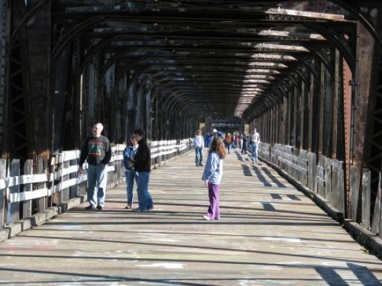 John Dillinger fled here: the old JAR Bridge