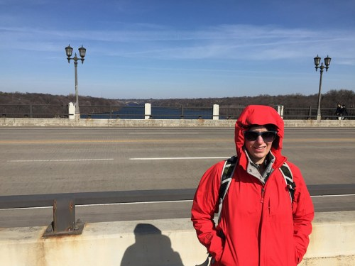 Janelle on the Ford Parkway Bridge