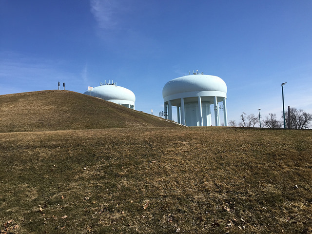 Functioning water towers