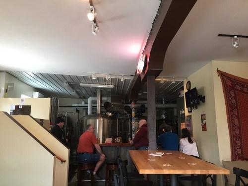 The bar at Wabasha Brewing Company
