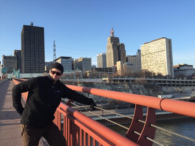 Scott on the Wabasha Street Bridge