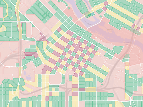 Map of city blocks in downtown Minneapolis.
