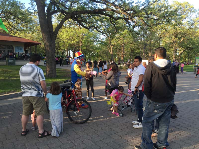 Minnehaha Falls Park Clown