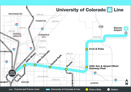 University of Colorado A Line Map