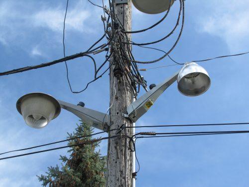 Old and New GE NEMA Area lights